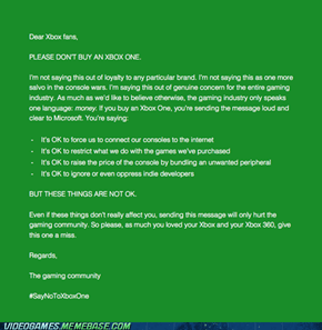 A plea to anyone considering buying an Xbox One