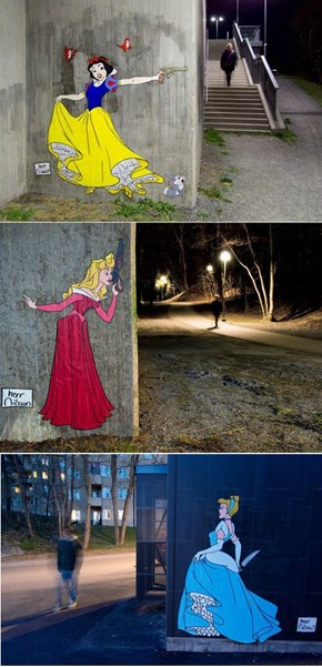 Disney Princesses Get Real in Herr Nilsson's Street Art