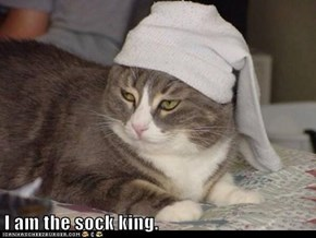 I am the sock king.