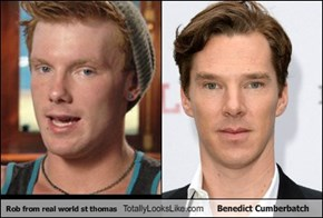 Rob from real world st thomas Totally Looks Like Benedict Cumberbatch