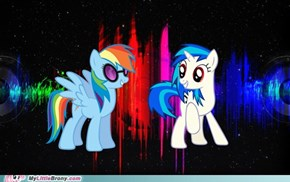 Rainbow Scratch and Vinyl Dash