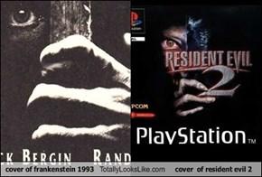 cover of frankenstein 1993 Totally Looks Like cover  of resident evil 2