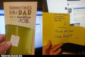 Thanking Dad at the Expense of Mom May Not be a Good Long-Term Strategy