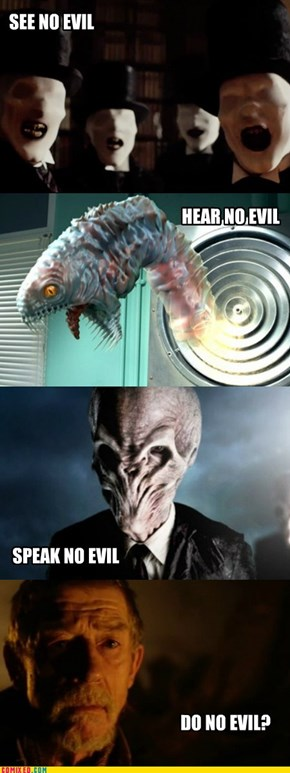 THREE WISE ALIENS OF DOCTOR WHO