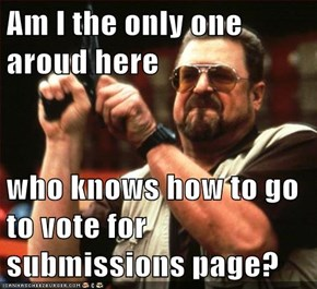 Am I the only one aroud here  who knows how to go to vote for submissions page?