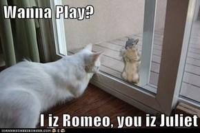 Wanna Play?  I iz Romeo, you iz Juliet