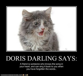 DORIS DARLING SAYS: