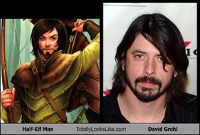 Half-Elf Man Totally Looks Like David Grohl