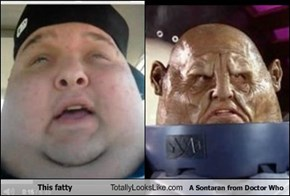 This fatty Totally Looks Like A Sontaran from Doctor Who