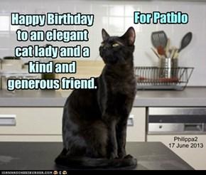 Happy Birthday, Patblo!