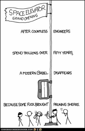 XKCD: Space Elevator