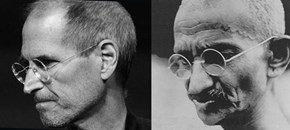 Steve Jobs looks like Gandhi
