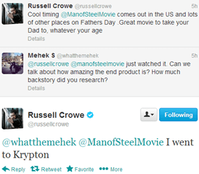 How Dedicated Was Russell Crowe to His Role in Man of Steel?