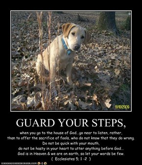GUARD YOUR STEPS,