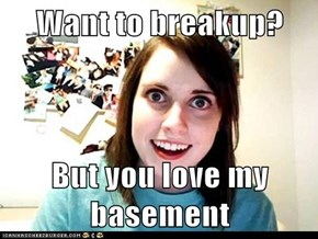 Want to breakup?  But you love my basement