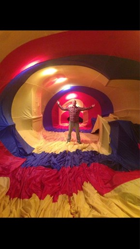 What Happens When You Inflate a Hot Air Balloon Indoors?