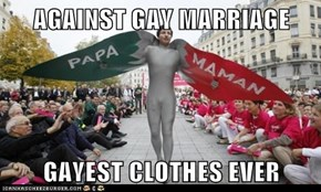 AGAINST GAY MARRIAGE  GAYEST CLOTHES EVER