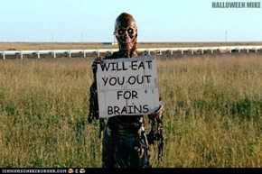 Will eat you out for brains.