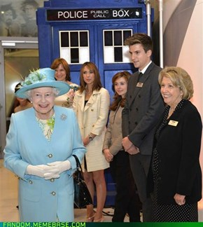 The Queen and the Tardis: from now on, all arguments are invalid.