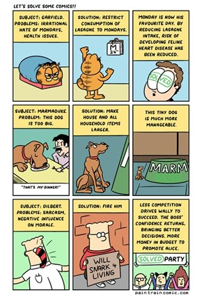 Solve Dilbert, Marmaduke and Garfield's Problems is Easier Than You Thought
