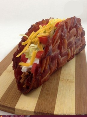 Taco Made Out of Bacon. Nuff Said