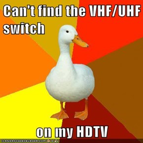 Can't find the VHF/UHF switch  on my HDTV