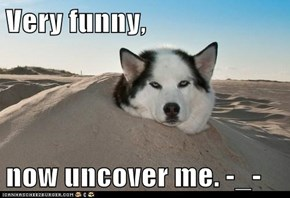Very funny,  now uncover me. -_-