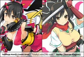 Tsukikage Momiji (Cosmic Break) Totally Looks Like Asuka (Senran Kagura)