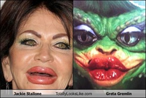 Jackie Stallone Totally Looks Like Greta Gremlin