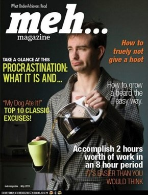 What Under-Achievers Read - meh magazine