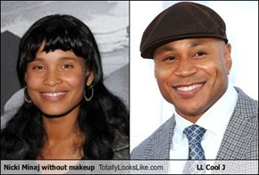 Nicki Minaj without makeup Totally Looks Like LL Cool J
