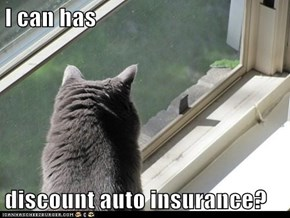 I can has  discount auto insurance?