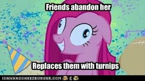 Friends abandon her