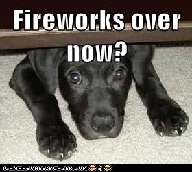 Fireworks over now?