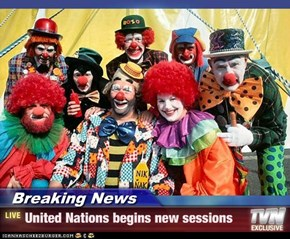 Breaking News - United Nations begins new sessions