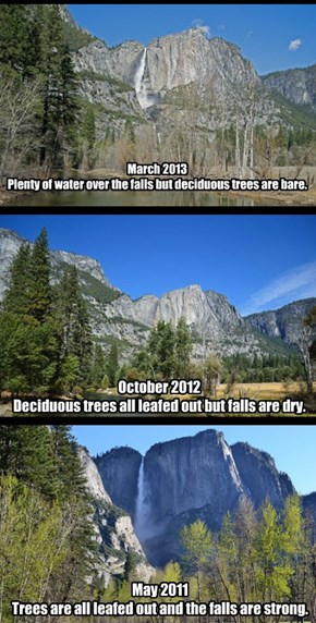 Choosing when to visit Yosemite is kind of a Goldilocks thing.