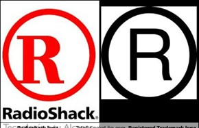 Radioshack logo Totally Looks Like Registered Trademark logo