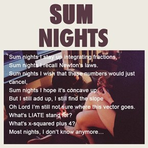 The Lyrics of Late Night Math
