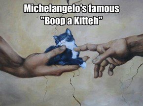 Kitteh dont care 'bowt no Michelangelo!