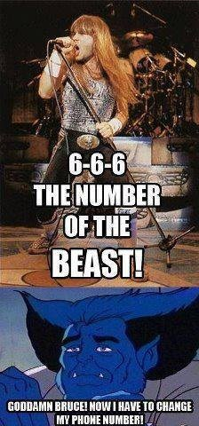 No wonder the phone goes off when Beast is around.