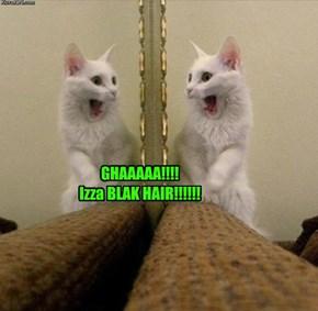 GHAAAAA!!!!  Izza BLAK HAIR!!!!!!