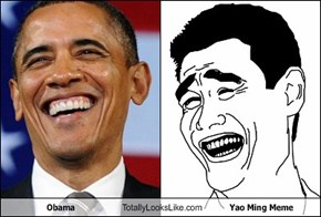 Obama Totally Looks Like Yao Ming Meme