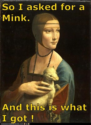 So I asked for a Mink.  And this is what I got !