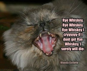 Jenny reverted to human drinking songs when she had too much nip