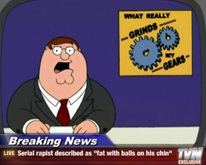 "Breaking News - Serial ****** described as ""fat with balls on his chin"""