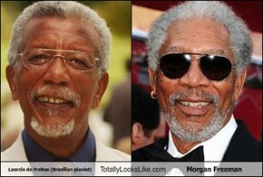 Laercio de Freitas (Brazilian pianist) Totally Looks Like Morgan Freeman