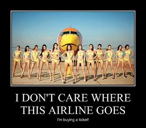 I DON'T CARE WHERE THIS AIRLINE GOES