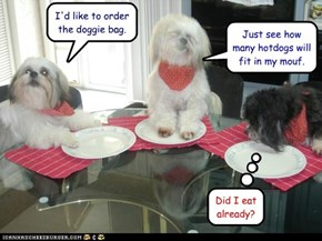 I'd like to order the doggie bag.