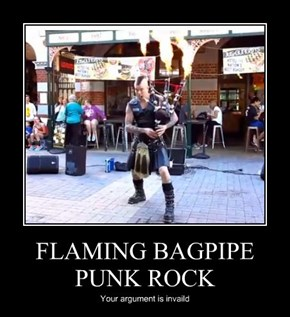 FLAMING BAGPIPE PUNK ROCK