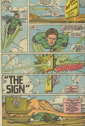 The sign: Green lanterns archenemy
